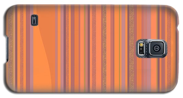 Galaxy S5 Case featuring the digital art May Morning Vertical Stripes by Val Arie