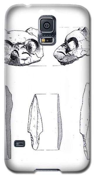 Maya Cat Head And Stone Tools Galaxy S5 Case