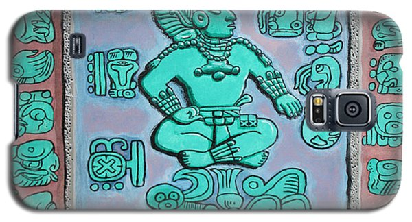 Galaxy S5 Case featuring the painting Mayan Prince by Antonio Romero