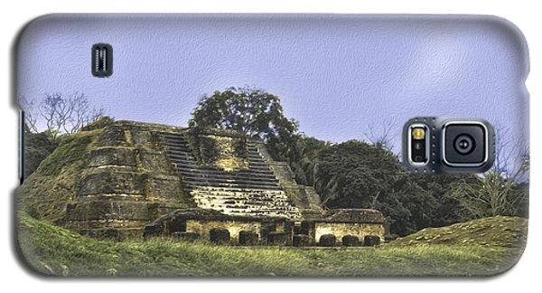 Galaxy S5 Case featuring the photograph Mayan Ruins In Belize by Linda Constant