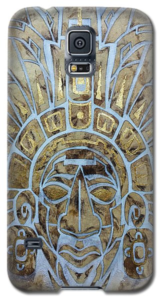 Galaxy S5 Case featuring the painting Mayan Warrior by J- J- Espinoza