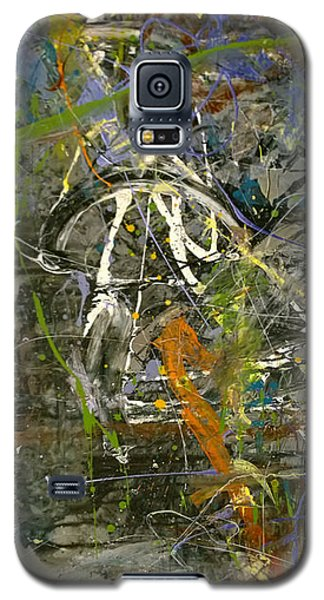 Galaxy S5 Case featuring the painting 'maybe Guitar' Or Abstract 42515 by Robert Anderson