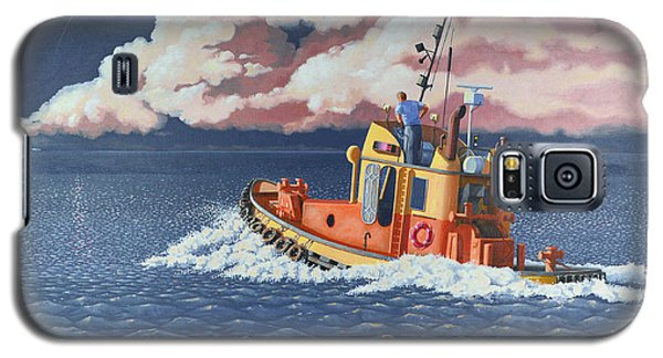 Galaxy S5 Case featuring the painting Mayday- I Require A Tug by Gary Giacomelli
