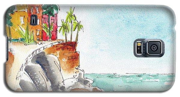 Galaxy S5 Case featuring the painting Mazatlan Cliff by Pat Katz