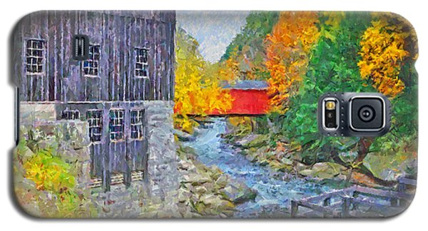 Galaxy S5 Case featuring the digital art Mcconnells Mill State Park  by Digital Photographic Arts