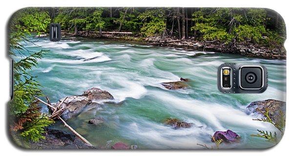 Galaxy S5 Case featuring the photograph Mcdonald Creek by Gary Lengyel
