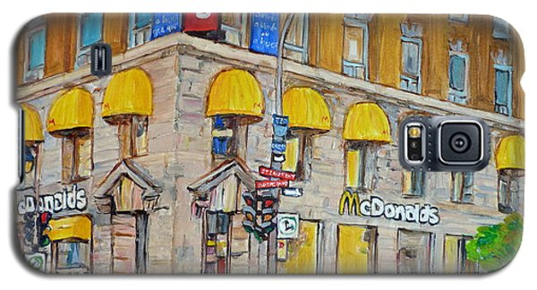 Mcdonald Restaurant Old Montreal Galaxy S5 Case