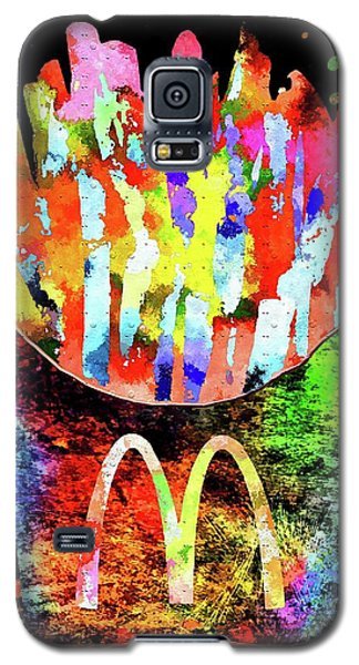 Mcdonald's French Fries Grunge Galaxy S5 Case