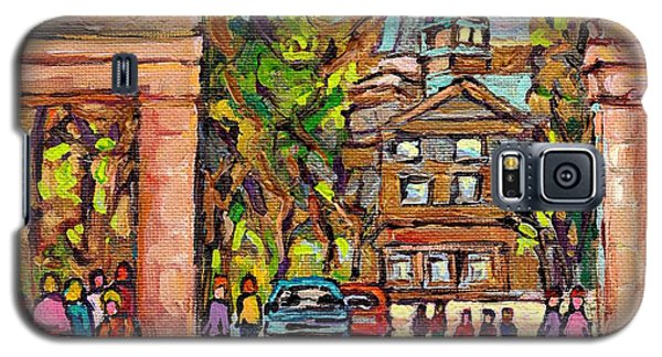 Mcgill Gates  Entrance Of Mcgill University Montreal Quebec Original Oil Painting Carole Spandau Galaxy S5 Case