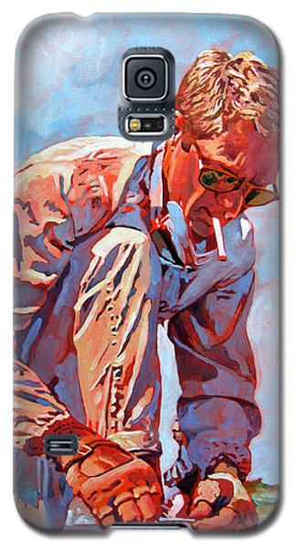 Galaxy S5 Case featuring the painting Mcqueen Cool - Steve Mcqueen by David Lloyd Glover