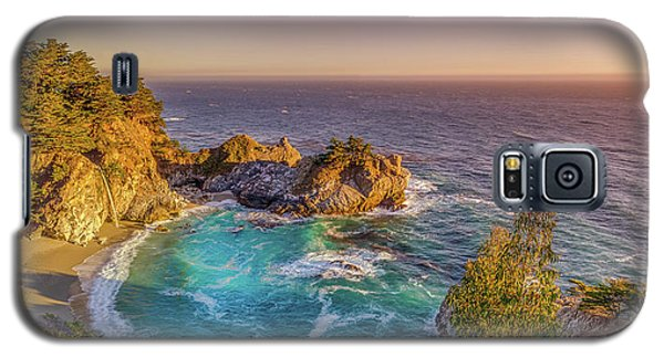 Galaxy S5 Case featuring the photograph Mcway Falls Big Sur California by Scott McGuire