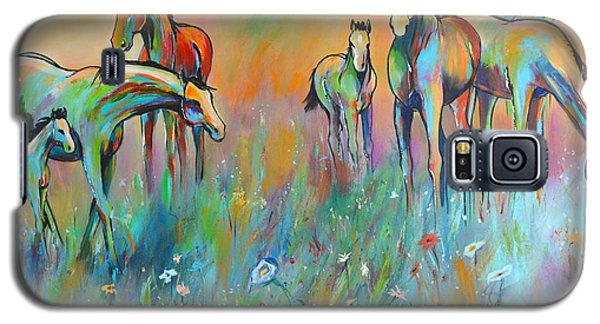 Galaxy S5 Case featuring the painting Meadow by Cher Devereaux