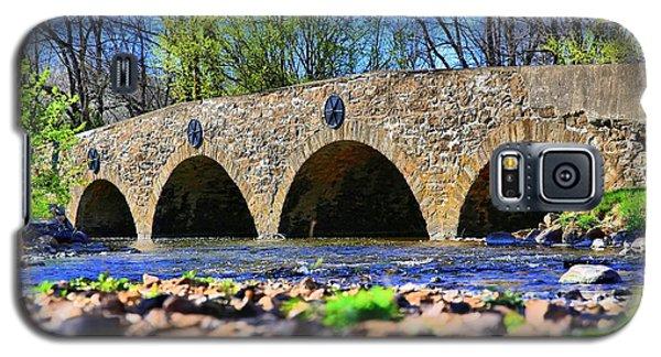 Galaxy S5 Case featuring the photograph Meadows Road Bridge by DJ Florek