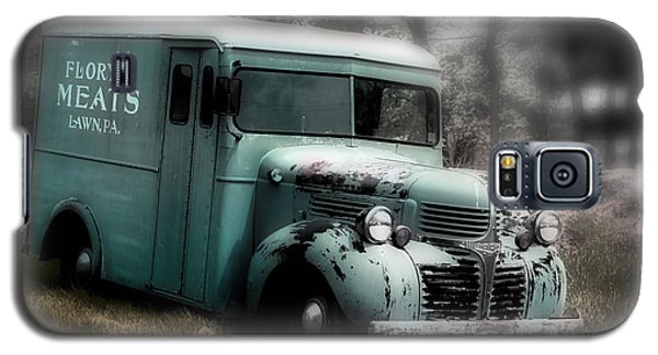 Galaxy S5 Case featuring the painting Meat Truck by Gray  Artus
