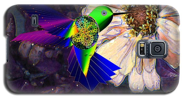 Galaxy S5 Case featuring the digital art Mecha Whirlygig by Iowan Stone-Flowers