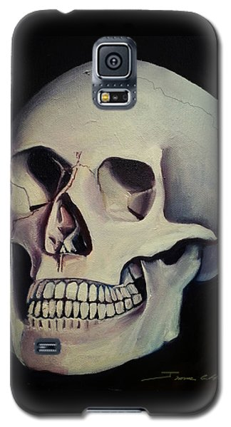 Galaxy S5 Case featuring the painting Medical Skull  by James Christopher Hill