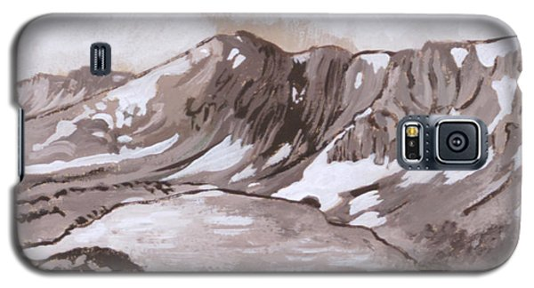 Galaxy S5 Case featuring the painting Medicine Bow Peak Historical Vignette by Dawn Senior-Trask