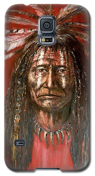 Galaxy S5 Case featuring the painting Medicine Man by Arturas Slapsys