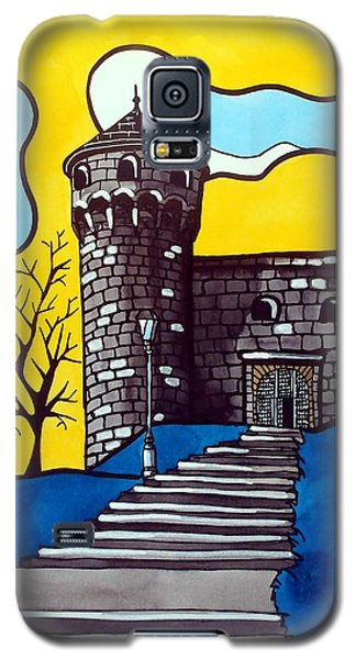 Galaxy S5 Case featuring the painting Medieval Bastion -  Mace Tower Of Buda Castle Hungary By Dora Hathazi Mendes by Dora Hathazi Mendes