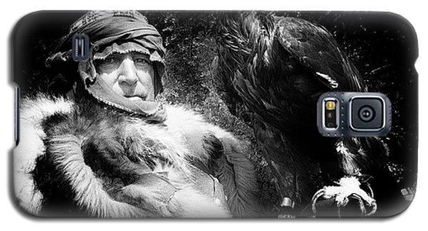 Galaxy S5 Case featuring the photograph Medieval Fair Barbarian And Golden Eagle by Bob Christopher