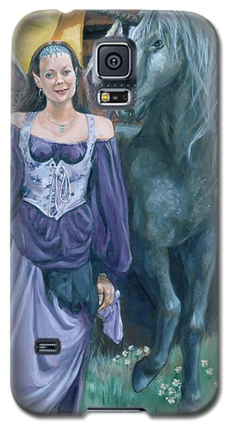 Galaxy S5 Case featuring the painting Medieval Fantasy by Bryan Bustard