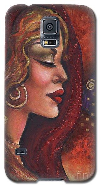 Galaxy S5 Case featuring the mixed media Meditate by Alga Washington