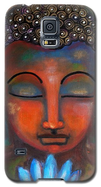 Meditating Buddha With A Blue Lotus Galaxy S5 Case