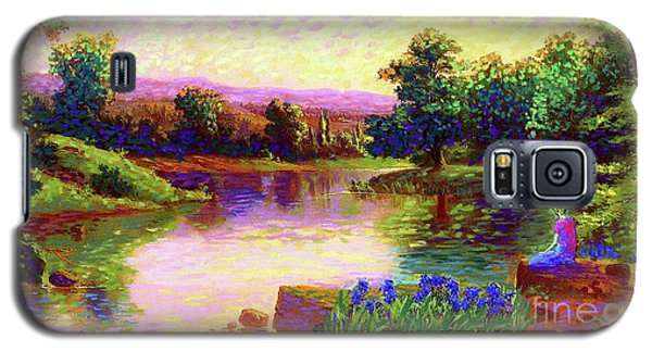 Iris Galaxy S5 Case - Meditating Just Be by Jane Small