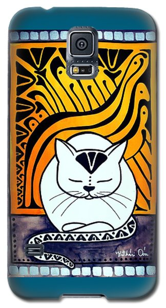 Meditation - Cat Art By Dora Hathazi Mendes Galaxy S5 Case
