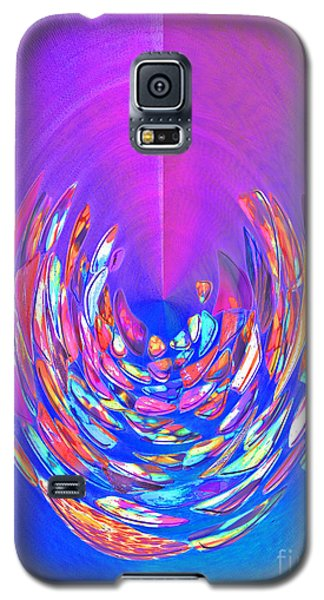 Meditation In Blue Galaxy S5 Case by Nareeta Martin