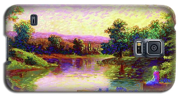 Galaxy S5 Case featuring the painting  Meditation, Just Be by Jane Small
