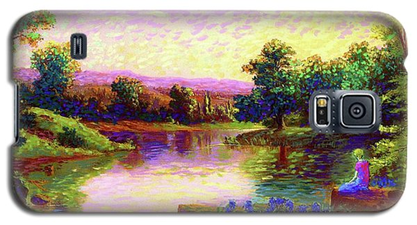 Meditation, Just Be Galaxy S5 Case by Jane Small