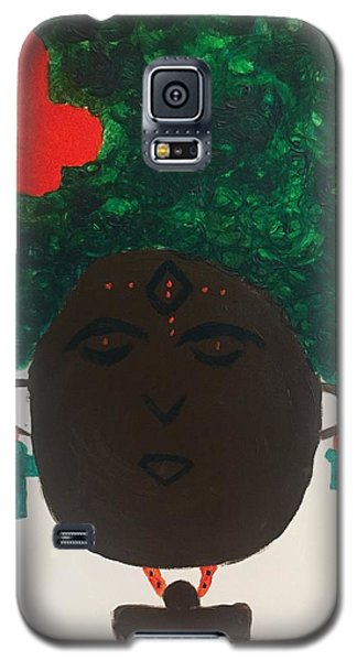 Galaxy S5 Case featuring the painting Meditation Queen  by Samimah Houston
