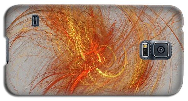 Galaxy S5 Case featuring the digital art Medusa Bad Hair Day - Fractal by Menega Sabidussi