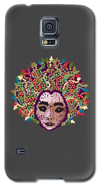 Galaxy S5 Case featuring the digital art Medusa With Transparent Background by R  Allen Swezey