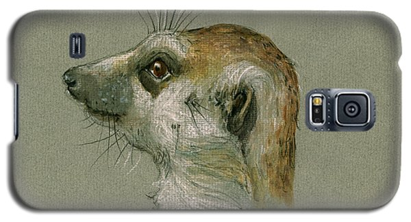 Meerkat Galaxy S5 Case - Meerkat Or Suricate Painting by Juan  Bosco