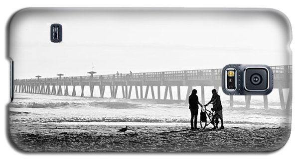 Galaxy S5 Case featuring the photograph Meet At The Pier by Phyllis Peterson