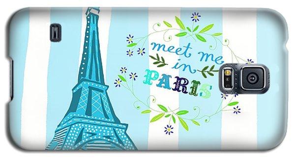 Meet Me In Paris Galaxy S5 Case by Priscilla Wolfe