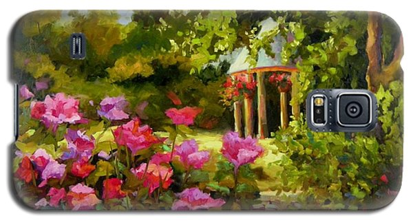 Galaxy S5 Case featuring the painting Meet Me In The Garden by Chris Brandley
