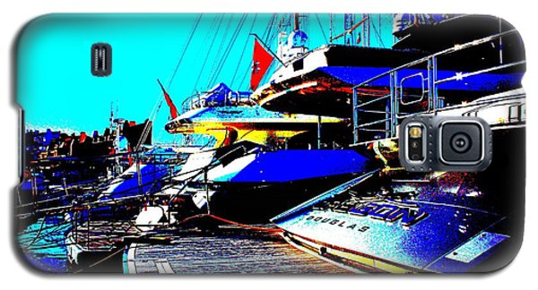 Galaxy S5 Case featuring the photograph Mega Yachts by Rogerio Mariani