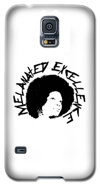 Galaxy S5 Case featuring the painting Melanated Excellence I by Alkebulan