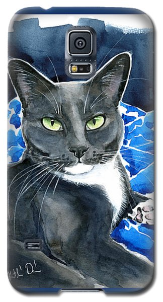 Melo - Blue Tuxedo Cat Painting Galaxy S5 Case