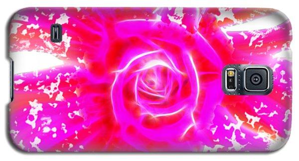 Melting Pink Rose Fractalius Galaxy S5 Case