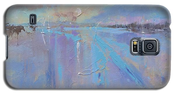 Galaxy S5 Case featuring the painting Melting Reflections by Laura Lee Zanghetti