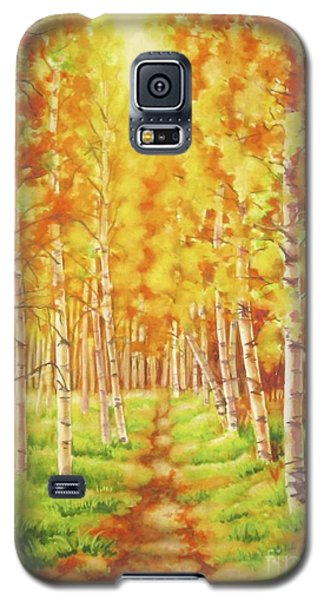 Galaxy S5 Case featuring the painting Memories Of The Birch Country by Inese Poga