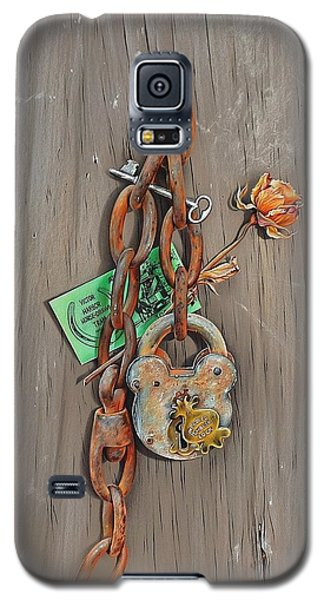Galaxy S5 Case featuring the drawing Memory Board by Elena Kolotusha
