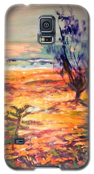 Galaxy S5 Case featuring the painting Memory Pandanus by Winsome Gunning