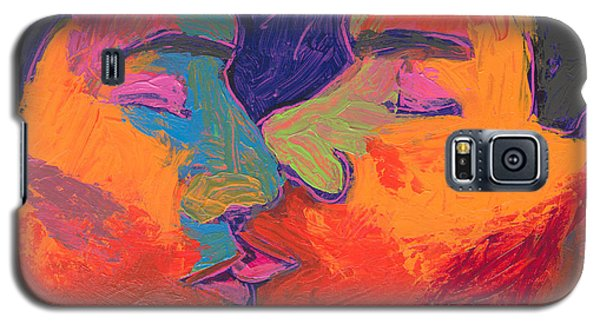 Men Kissing Colorful 2 Galaxy S5 Case by Shungaboy X