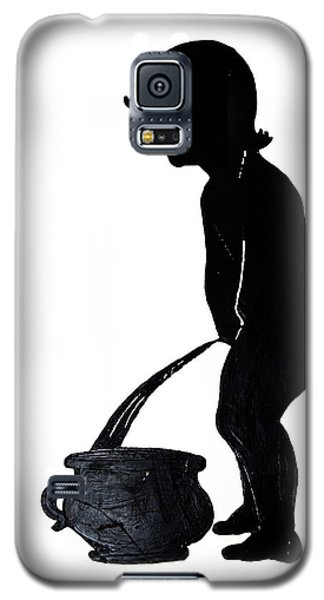 Mens Room Sign Silhouette Galaxy S5 Case