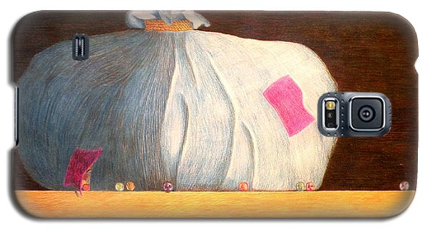 Galaxy S5 Case featuring the painting Mental Escapees by A  Robert Malcom